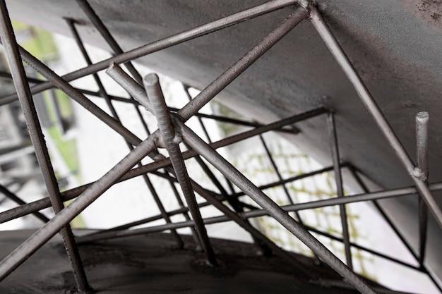 抽象的な金属の壁紙のクローズアップ