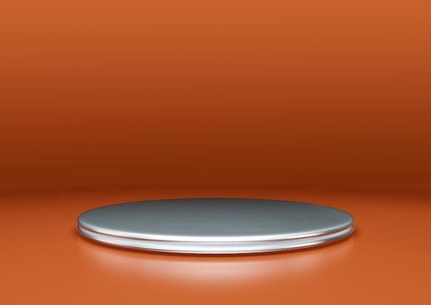 抽象的な最小限のモダンな丸い台座または表彰台