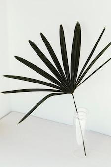 추상 최소한의 식물 잎