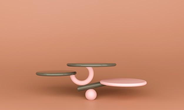 Абстрактная минимальная сцена с геометрическими формами