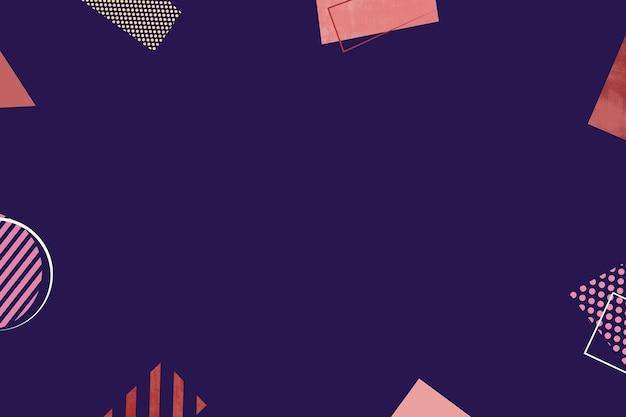 テキスト用のスペースと濃い紫色の背景の抽象的なミニマリストの幾何学的形状と線。