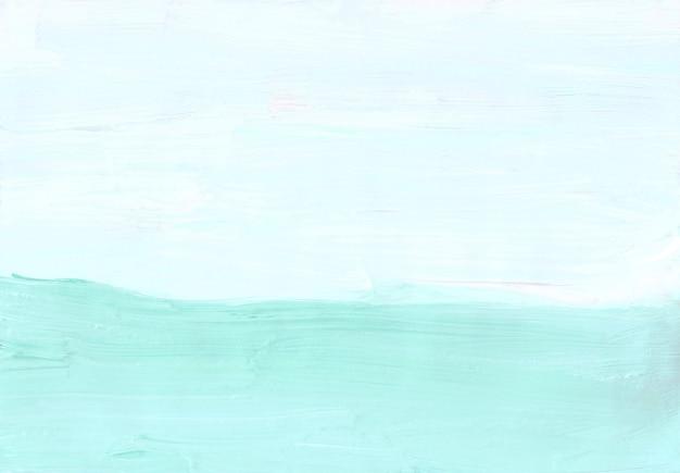추상 미니멀 파스텔 녹색과 흰색 배경