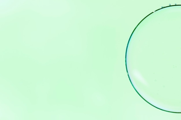 Abstract minimalistic magnifier bubble
