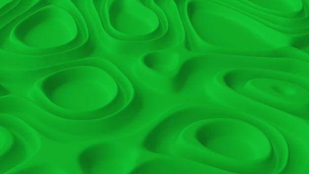 緑のノイズ波動場でミニマルな抽象