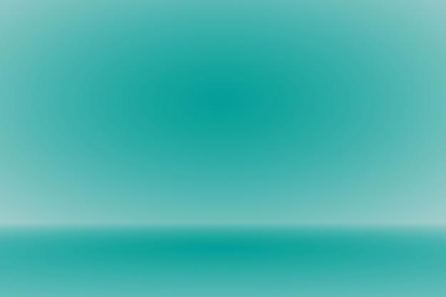 抽象的なミント緑色のグラデーションの背景空のスペーススタジオルームディスプレイ製品