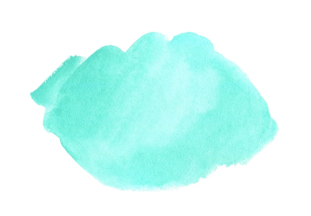 Abstract mint green watercolor on white background watercolor clipart for text or logo