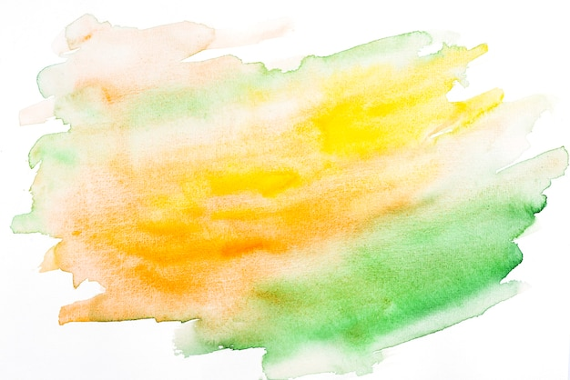 Abstract mixed orange and green watercolor texture