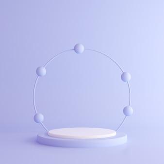Abstract mock up of geometry podium, minimal style.