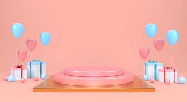 추상 장면 파스텔 색상을 모의. 제품 디스플레이. 표현
