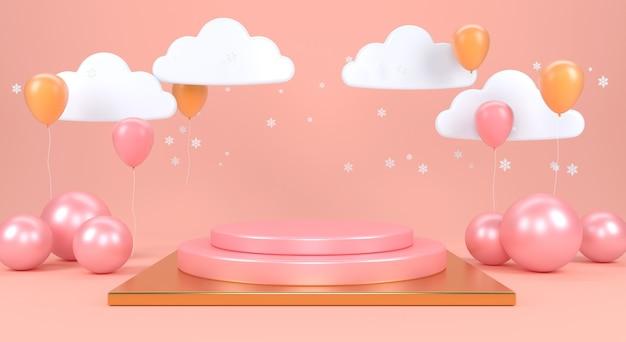Абстрактный макет сцены пастельных тонов. дисплей продукта. рендеринг