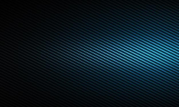 Абстрактная современная синяя текстура из углеродного волокна с левым боковым светом