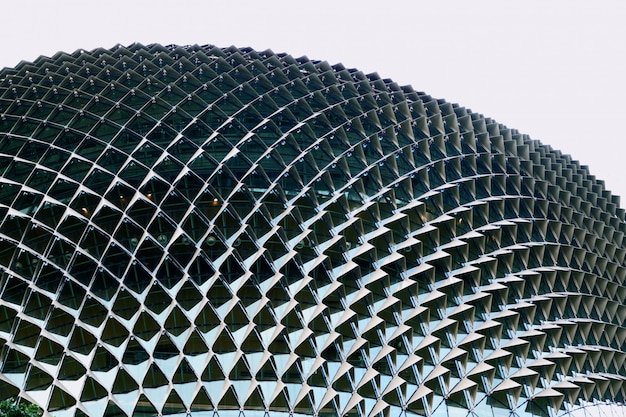 Abstract modern building at singapore close up