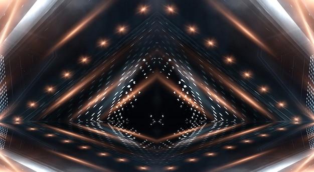 光線と線で抽象的なモダンな暗い背景