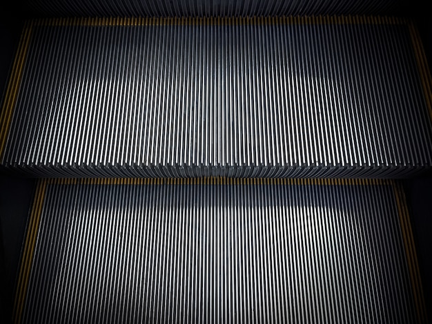 Abstract of modern escalator ladder background.