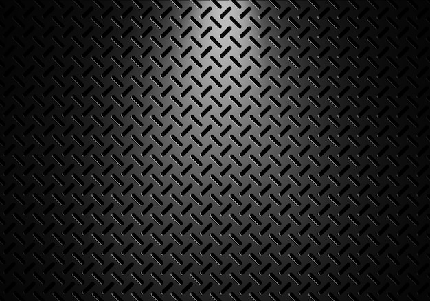 Abstract modern grey perforated metal plate textured background