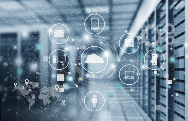 Abstract of modern high tech internet data