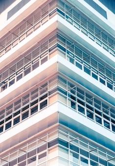 抽象的な、現代、オフィス、ガラス、ファサード