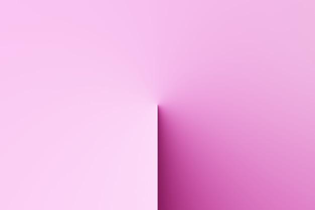 Абстрактные современные часы с тенью, солнечные часы на пустом цветном фоне 3d-рендеринга