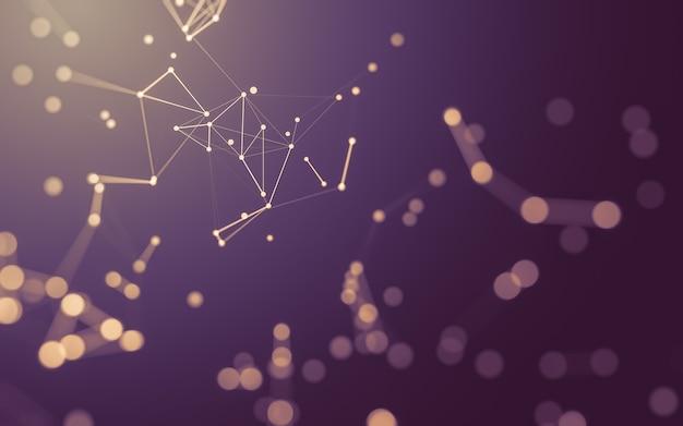 추상 분자, 연결 점과 선