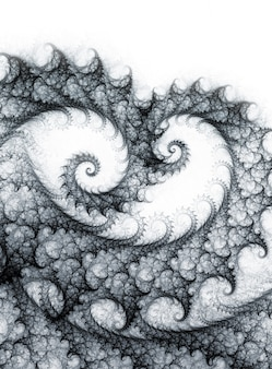Abstract monochrome background with spiral fractal