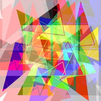 추상 더 삼각형 및 여러 가지 빛깔의 예술 배경 기하학적 그래픽 현대적인 스타일