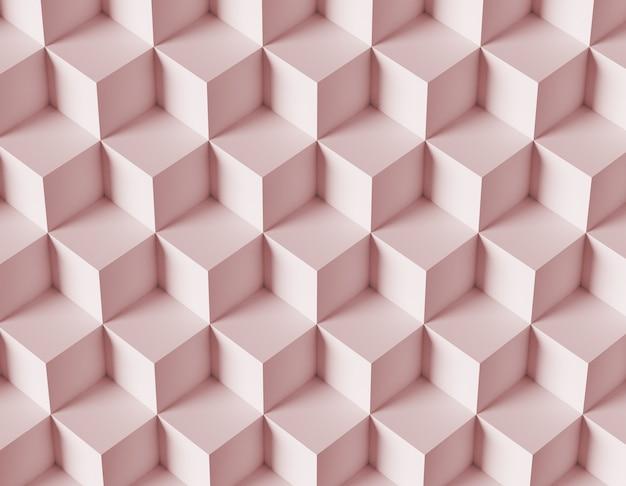 3d 큐브를 가진 추상 모자이크 배경