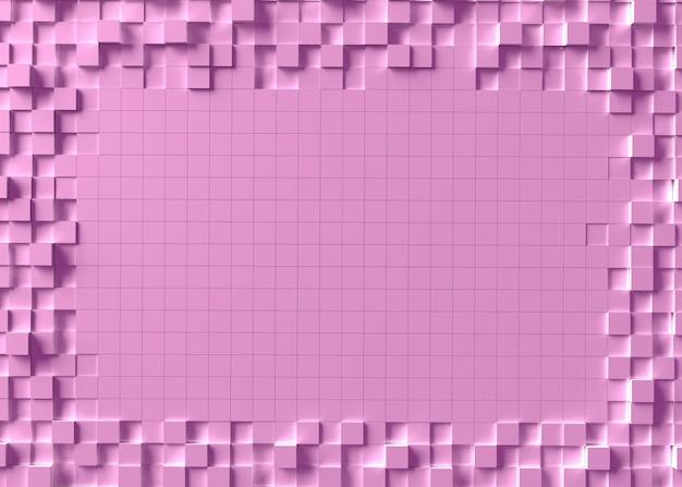 Абстрактный фон мозаики с лучами света. 3d рендеринг