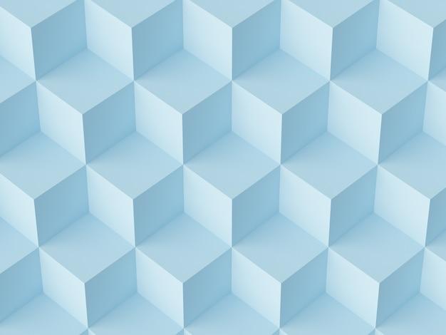 抽象的なモザイクキューブ