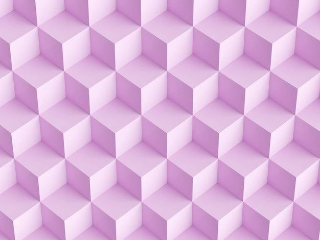 Abstract mosaic pink background with 3d cubes