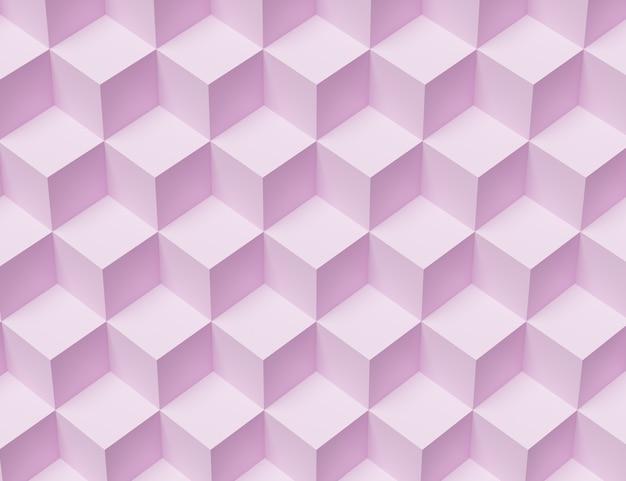 큐브를 가진 추상 모자이크 핑크 배경