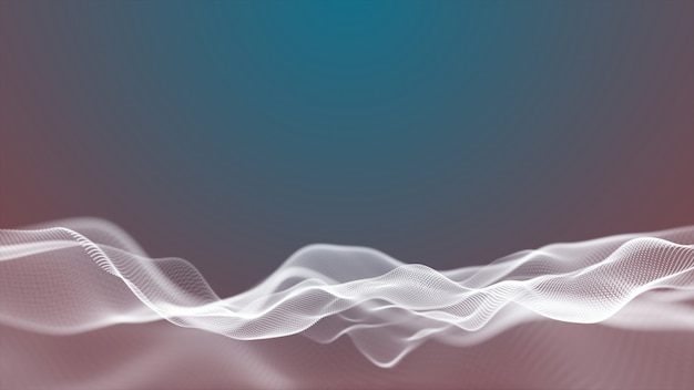 Abstract motion background digital waving surface