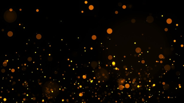 Abstract motion background shining gold particles. shimmering glittering particles with bokeh particles background. flickering particles.  new year and christmas background.