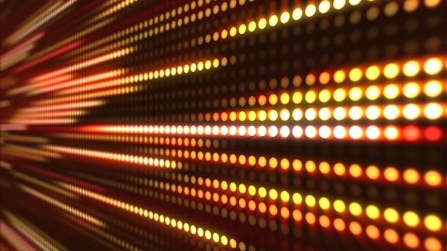 抽象化された運動の背景、黄色とオレンジ色の光の縞3 dイラスト Premium写真