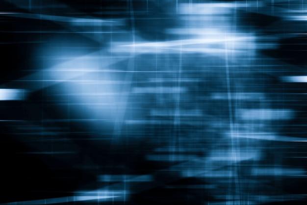 Абстрактное движение размытым фоном. голубой цветовой тон. движение освещения в городской фотосессии.