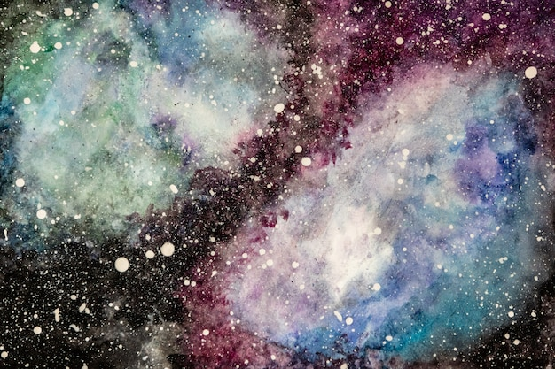 Abstract multicolor background painted with watercolors