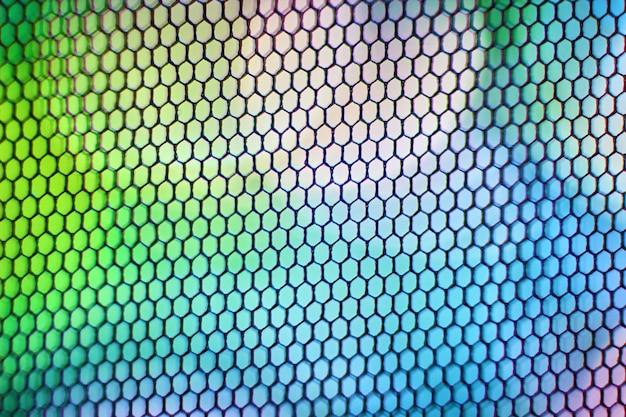 벌집 격자와 추상 여러 가지 빛깔의 배경입니다. 밝은 디자인 배경.