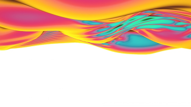 Abstract  multicolor cloth waves.