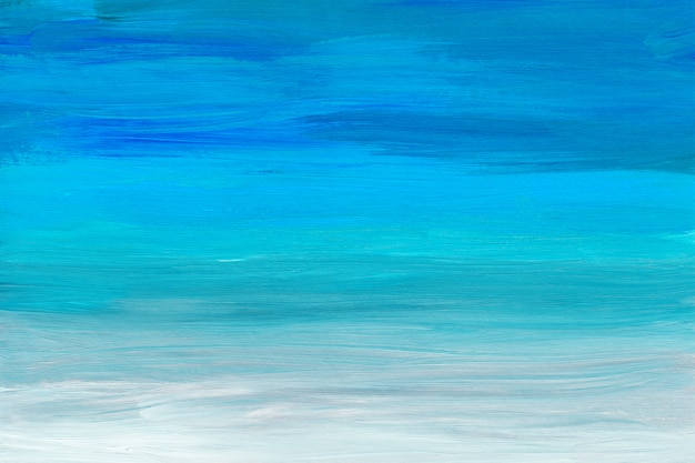 Abstract multicolored art painting background texture. blue, turquoise, gray and white abstraction.