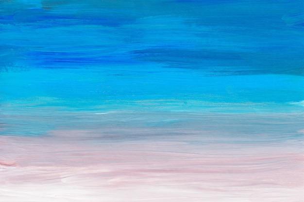 Абстрактный разноцветный фон, голубое, бирюзовое, розовое и белое масло произведения искусства
