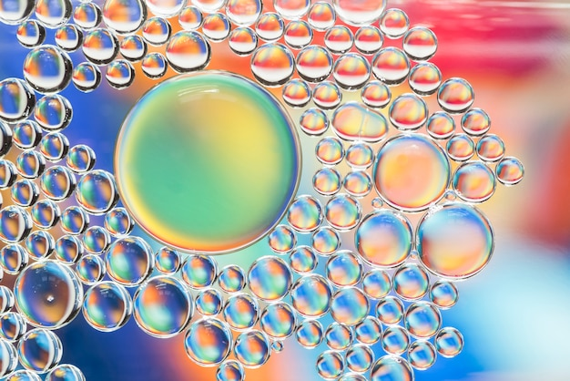 Abstract multicolored bubbles texture