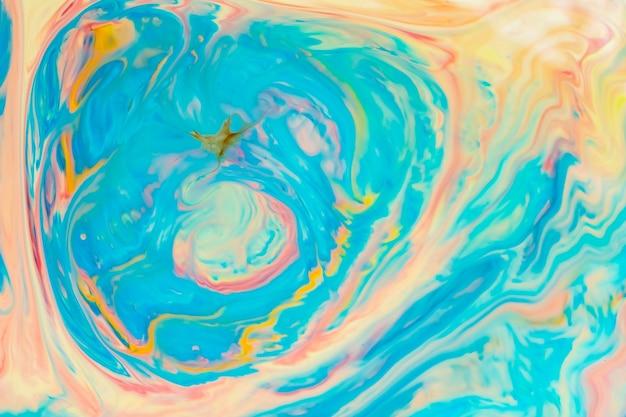 抽象的な色とりどりの液体の背景。抽象的なインクデザインテンプレート混合テクスチャ背景。サイケデリックスな色とりどりの柄。流体アート