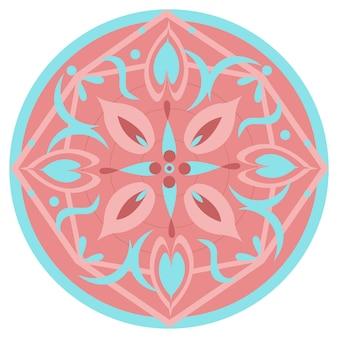 Абстрактный разноцветный круглый шаблон. белый фон.