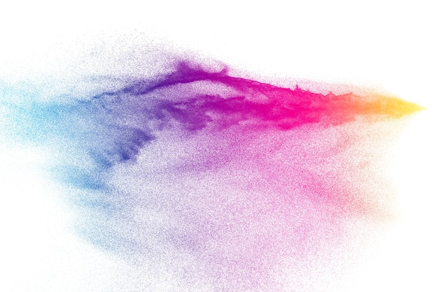 抽象的な多色の砂の爆発