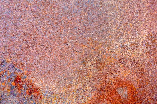 Abstract multicolored texture of old metal rust. background for design
