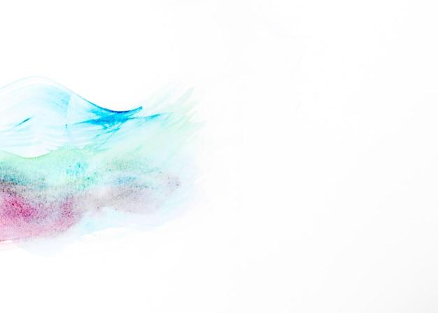 抽象的な多色の水彩画の描画