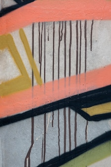 Abstract mural graffiti composition