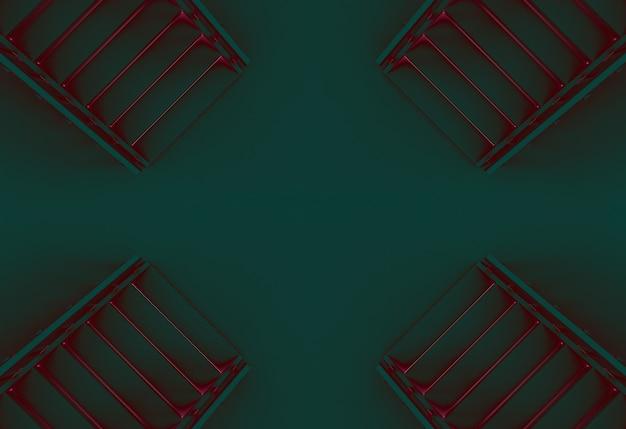 추상 미스터리 컬러 계단 바닥 배경입니다.