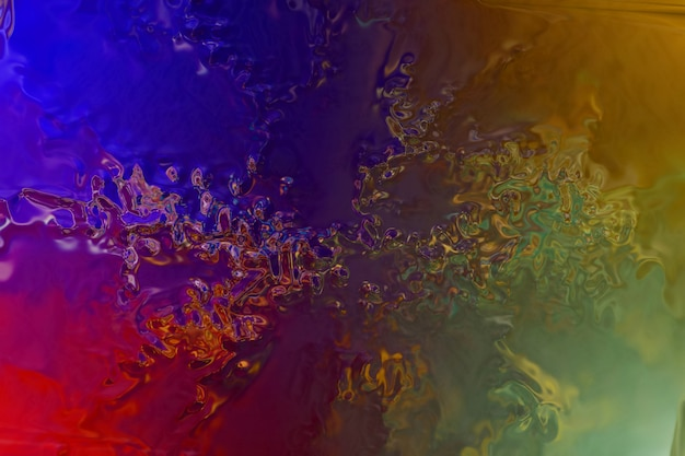 Abstract mystical and fantastic background . metallic multicolored texture , holographic iridescent surface wrinkled foil pastel.