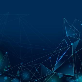 Fondo digitale astratto di tecnologia di griglia blu navy Foto Gratuite