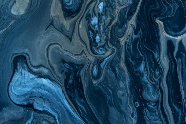 抽象的なネイビー色の流体の背景